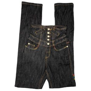 COOGI Size 1/2 Corset Skinnie High Rise Jeans